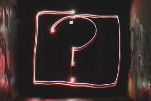 A Question Mark In Neon Finish