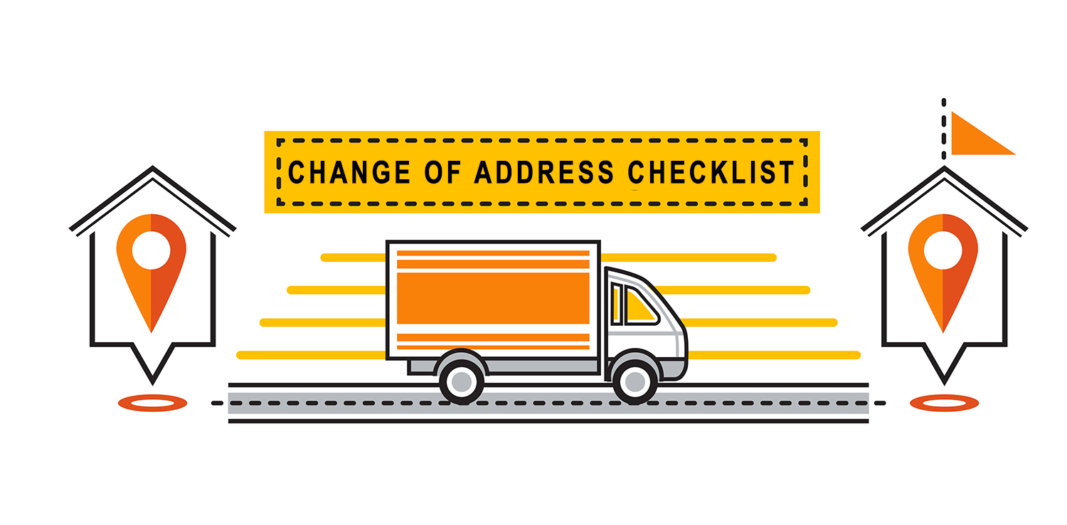 Change of Address During a Move Concept
