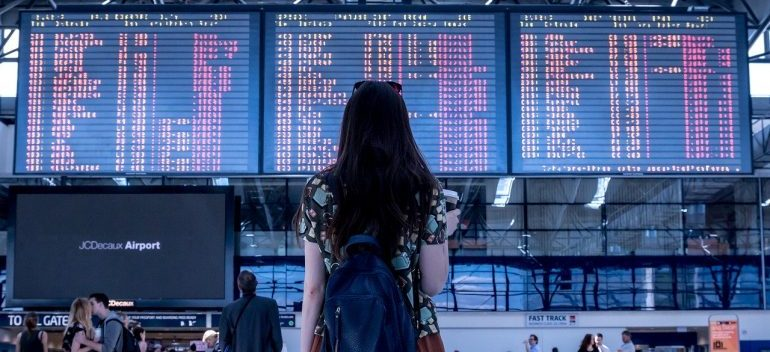 Girl at an airport