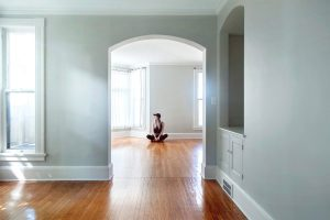 An empty apartment after the move