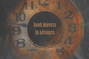 Graphics Showing A Ticking Clock For Booking Movers In Advance