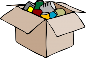 a box with items