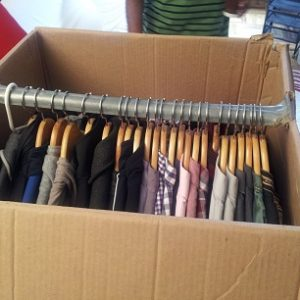 Box for hanging clothes