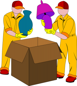 Plastic bins, specialty boxes and cardboard moving boxes are available at the nearest moving company