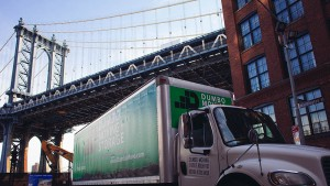 move to dumbo, brooklyn using our moving trucks!