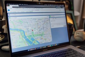 Browsing google maps on a MacBook