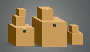 a pile of free moving boxes may help you move on a tight moving budget