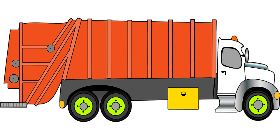 animated disposal truck