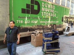 dumbo moving truck and moving boxes