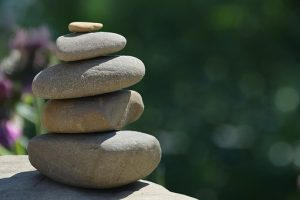 stones stacked on top of each other as a symbol of balance in your new home