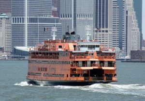 A picture of the Staten Island ferry.