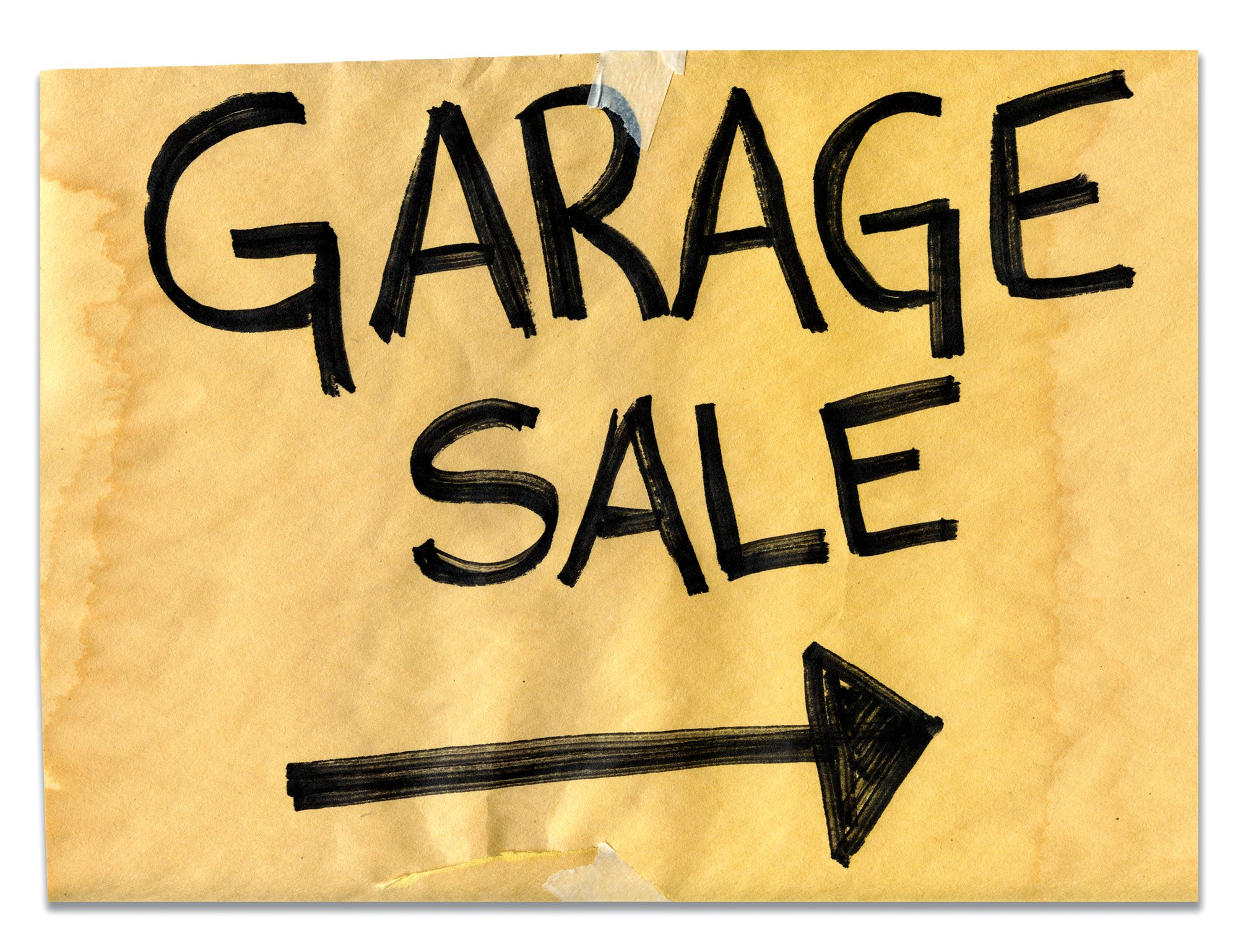 Organize a Garage Sale before the Move