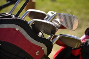 Golf clubs - the first thing to go when you store away sports equipment.