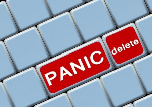 Panic may appear with unexpected events