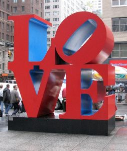 red love sculpture in NYC