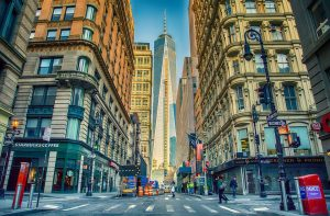 Busy streets and modern skyscrapers are just the opposite of the NYC suburb lifestyle