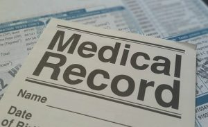 a file, medical records