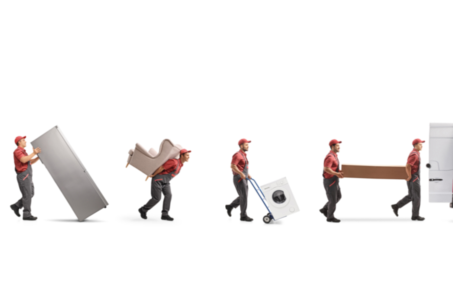 Movers carrying bulky items