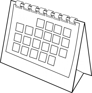 a blank moving calendar of a NYC moving company