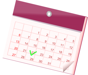 pink calendar will help you reduce moving stress