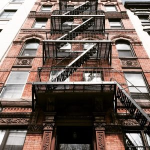 fire escape on a NYC walkup