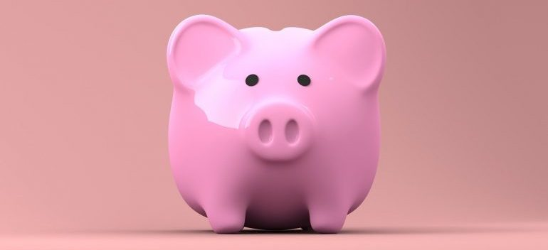 A pink piggy bank to dig into for do-it-yourself moving.
