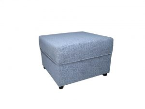 grey pouffe is your ally when downsizing
