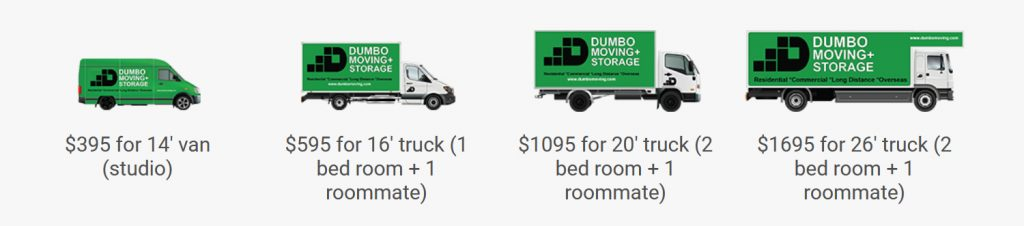 Moving Trucks in Different Sizes