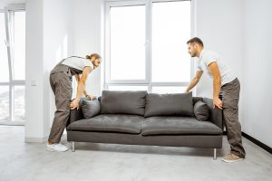 Professional Movers Are Moving The Sofa