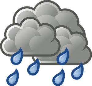 a cloud and rain indicating relocating in cold weather
