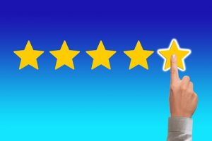 a hand giving five stars after renting a self-storage unit in NYC