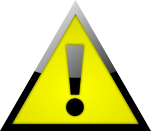 alert sign - yellow triangle with an exclamation mark inside