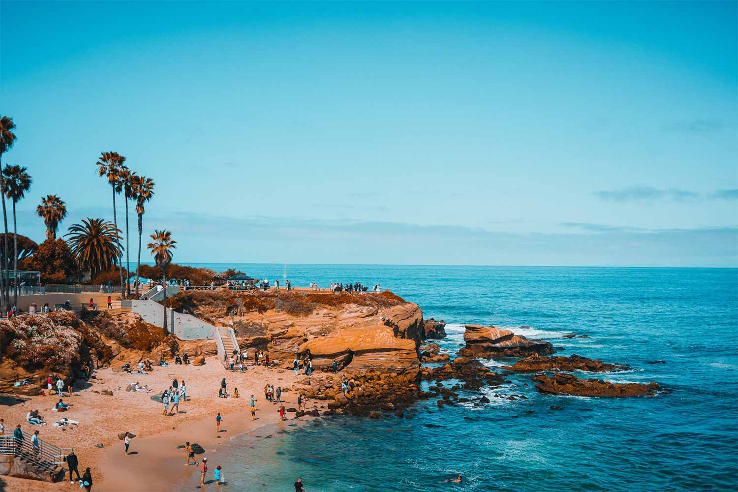 People on a Beach in San Diego