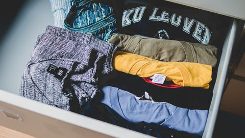 clothes in a suitcase