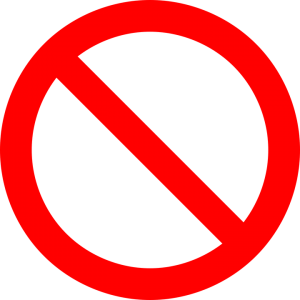red prohibition sign