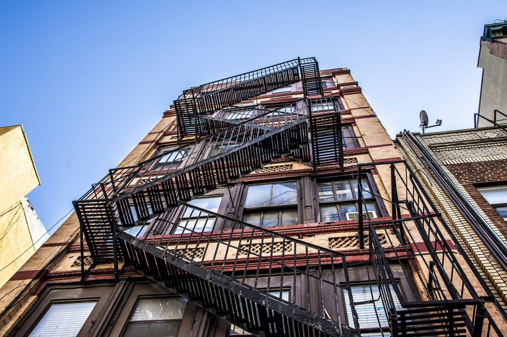 There is always a fire escape to help you avoid getting evicted in NYC
