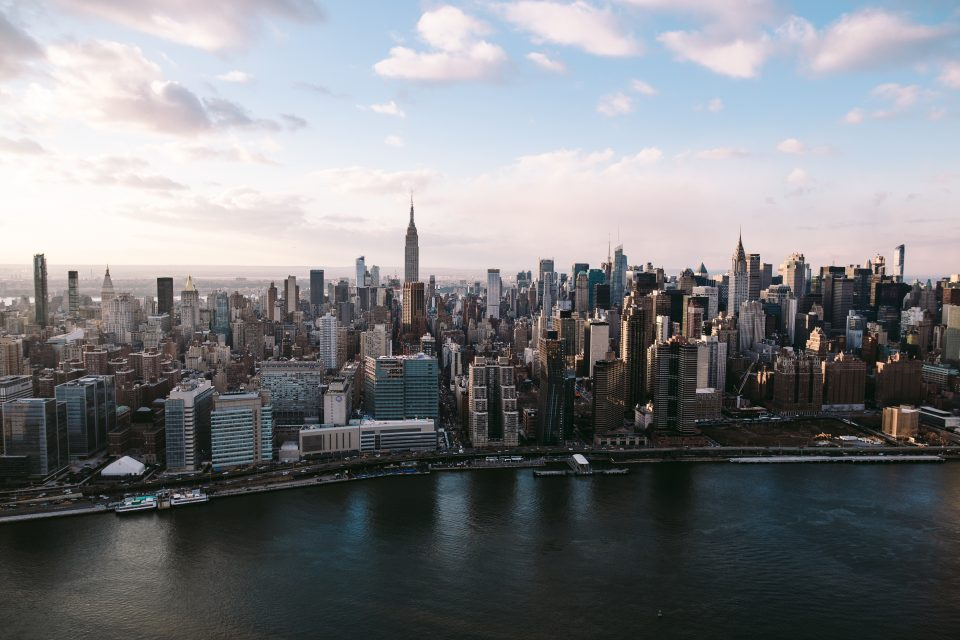 Image of Manhattan from the air