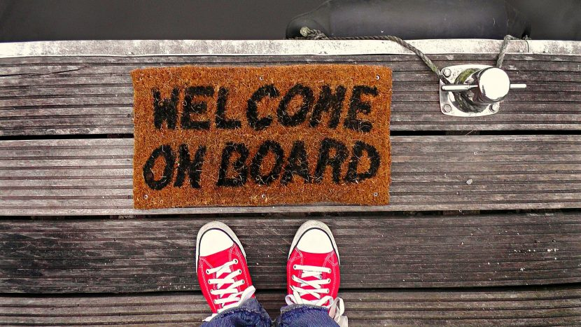 welcome on board doormat